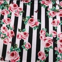 ורדים רומנטיים נתיך עם צבע פסים מודפסים פרפרים DIY-AF253 בד אקארד ססגוניות מעיל שמלת סתיו לאישה