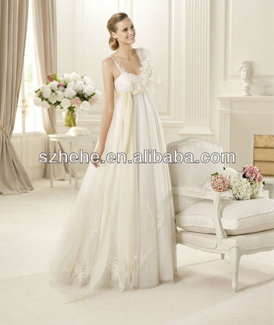 b3ea5610b14a5 PW0008 2013 Designer new product sexy spaghetti strap appliqued tulle skirt wedding  dresses for pregnant women