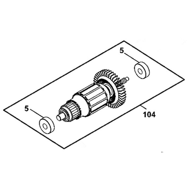 Armature 220-240V N034407 Rotor For Dewalt DWD010Armature 220-240V N034407 Rotor For Dewalt DWD010
