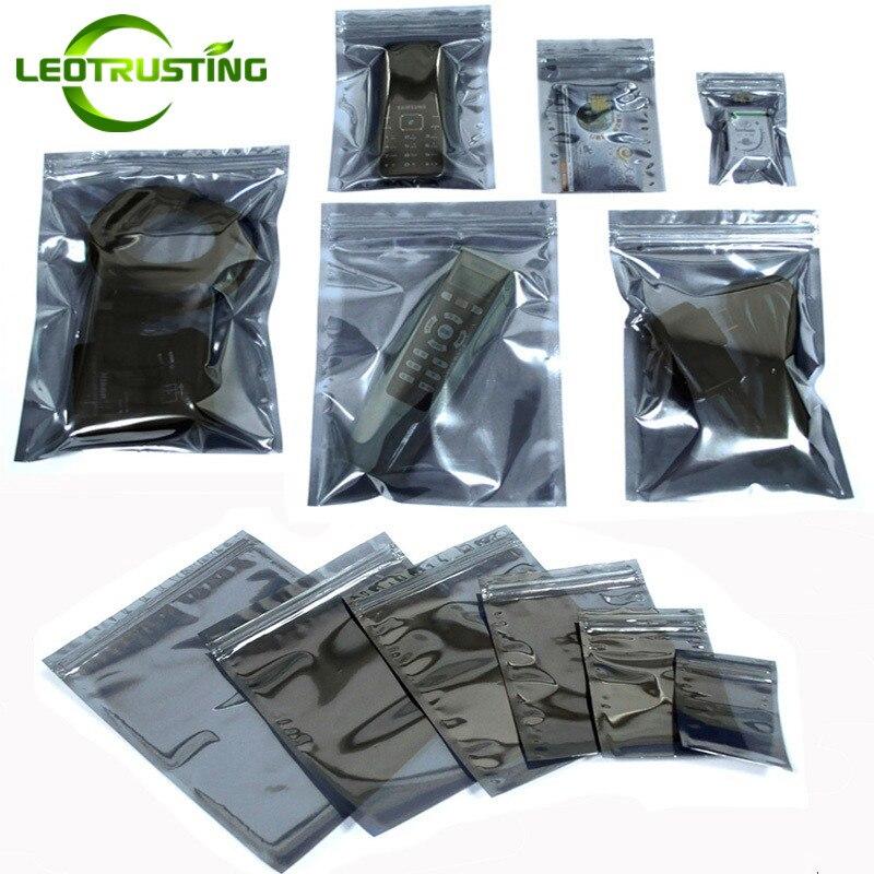 Антистатический защитный пакет Leotrusting с застежкой-молнией, 100 шт., антистатический пакет для инструментов ESD, самозакрывающиеся сумки для эл...