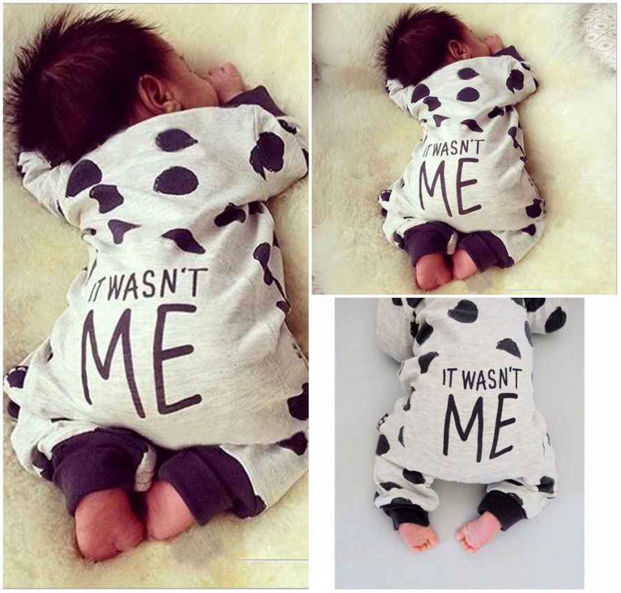 eb3f6572e9967 Rompers Clothing Children Newborn Toddler Infant Baby Boy Girl Cute Letter  Romper Jumpsuit Clothes Outfits Spring Summer 0-24M