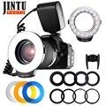 JINTU RF-550 Макро 48 светодиодная Кольцевая вспышка для Canon 750D 760D T6i T6s 7D Mark II T2i T3i T4i T5 550D 600D 650D 700D камера