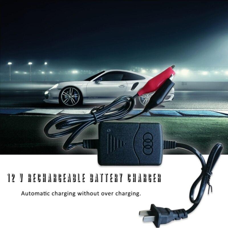 2018 Auto corto circuito Protección 12 V 1300mA ácido de plomo sellado recargable cargador de batería automático por coche camión de la motocicleta