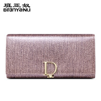Women Genuine Leather Wallet Long Designer Luxury Brand Purse Real Natrual Cowhide Elegant Noble Stylish Party Clutch Bag Gift