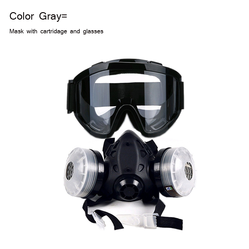 Filter Spray Painting Gas Anti-fog Face Half Welding For Glasses Mask With Breathing Chemical New Respirators N95 Dust