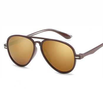 2019 fashions new children's HD Sunglasses boy girl anti UV decorate Travel tourism sun glasses color film children's mirror OEM