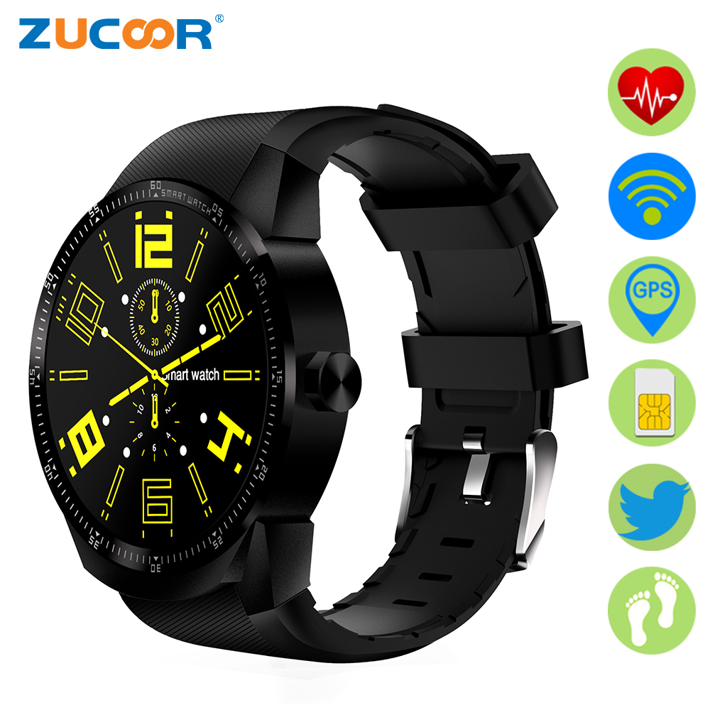 ZUCOOR Android Smart Watch With Sim Card Heart Rate Pulse Monitor RW61 GPS Tracker Fitness Reloj Bluetooth Watches Women's Clock exerpeutic lx905 training cycle with computer and heart pulse sensors