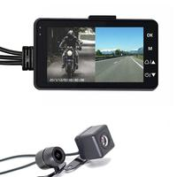 New Motorcycle Recorder 3 Inch 1080P HD Motorcycle Driving Recorder Waterproof Double Mirror Driving Recorder Motor Monitor