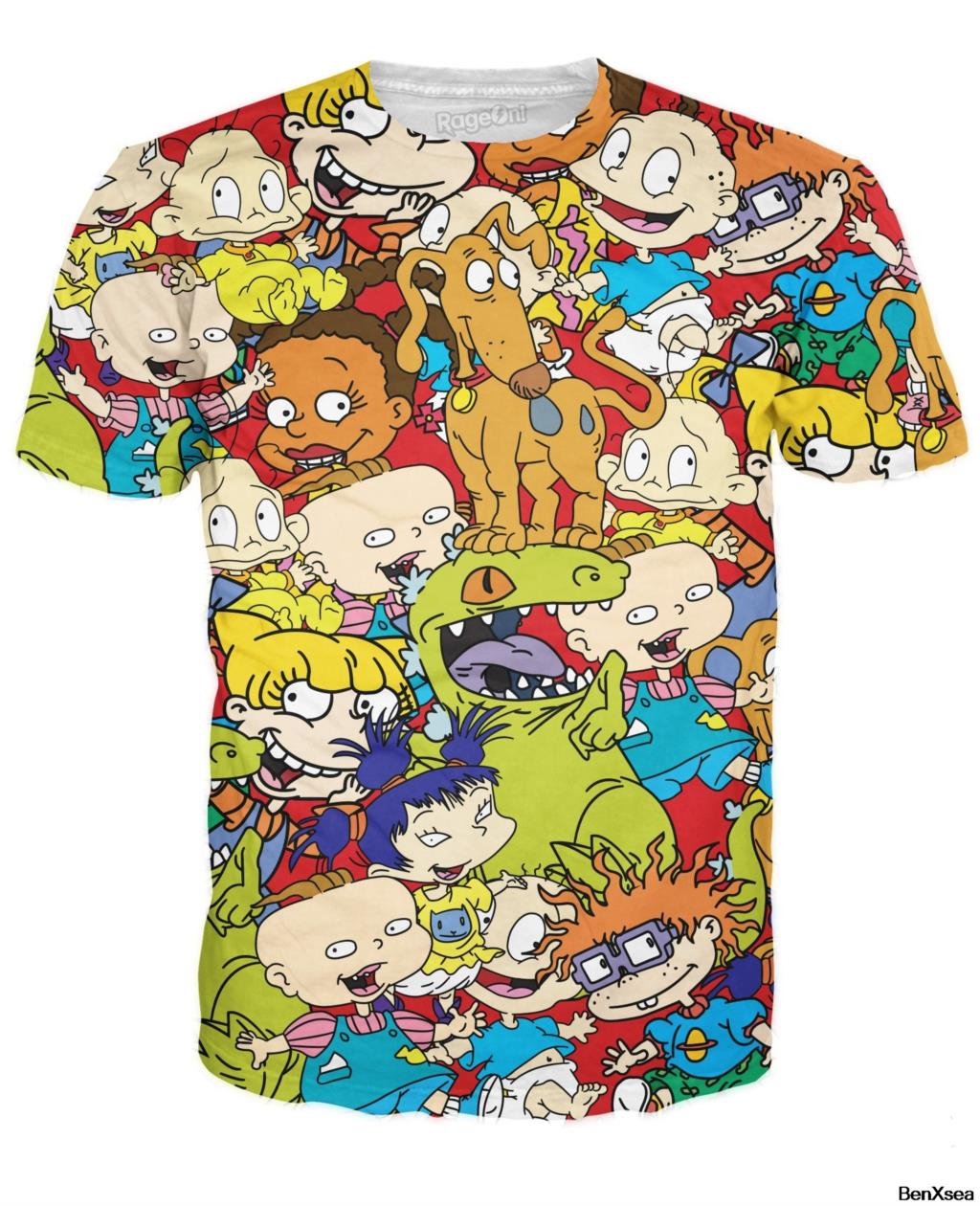NEW 2018 <font><b>3D</b></font> Printed Rugrats <font><b>T</b></font> <font><b>Shirt</b></font> <font><b>Sexy</b></font> Women Men TOP Tees image