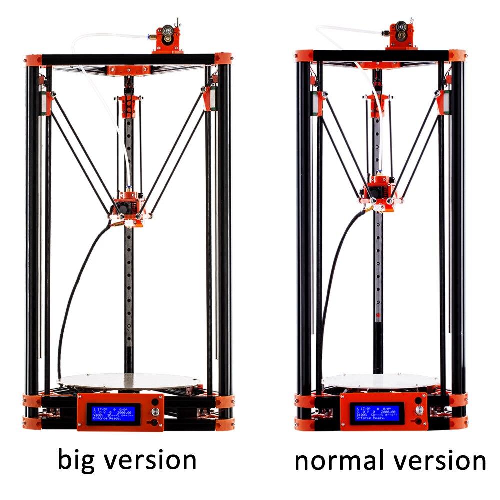 FLSUN 3D Imprimante Poulie Version Linéaire Guide Grande Taille D'impression 240*285mm Auto Nivellement Chauffée Lit et Un rouleau Filament