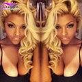 Grade 7A Russian Hair 613 Blonde Body Wave Human Hair Weave Bundles 3pcs/lot Honey Blonde Virgin Hair Queenbeauty  Blonde Weaves