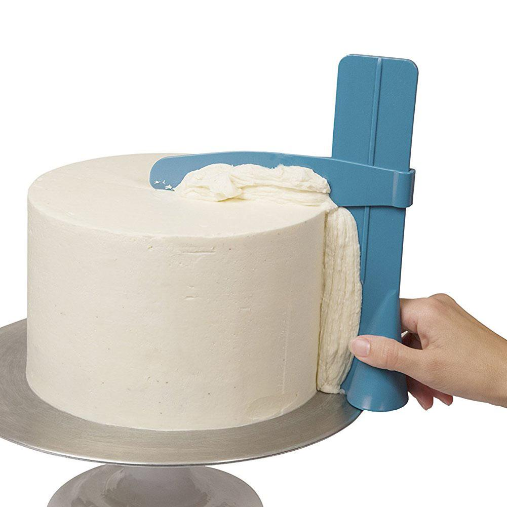 <font><b>Cake</b></font> Decorating Tools Adjustable <font><b>Scraper</b></font> Edge Side <font><b>Smoother</b></font> Polisher Fondant Sugarcraft Icing Mold Plastic Painting DIY Baking image
