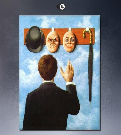 Famous paintings by rene magritte wall paintings for home decor idea oil painting art b03-in