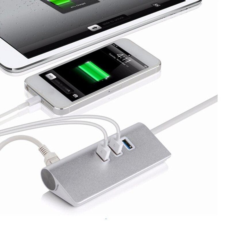 USB3.1 Type-C To RJ45 3 Port USB 3.0 Aliazh alumini HUB me kartelë - Periferikësh të kompjuterit