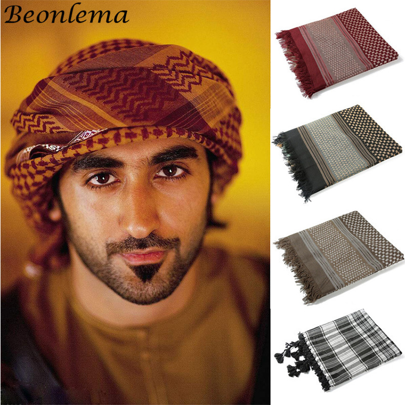 Men Islam Muslim Hijab Turban Arab Headwrap Scarf Shawl Cap Headwear Classic Hat