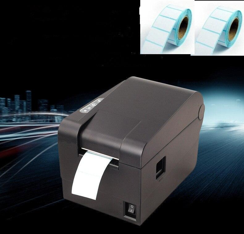 2016 nouvelle haute qualité 2 rouleau étiquettes + code à barres étiquettes imprimantes thermique vêtements étiquette imprimante Support largeur 58mm impression