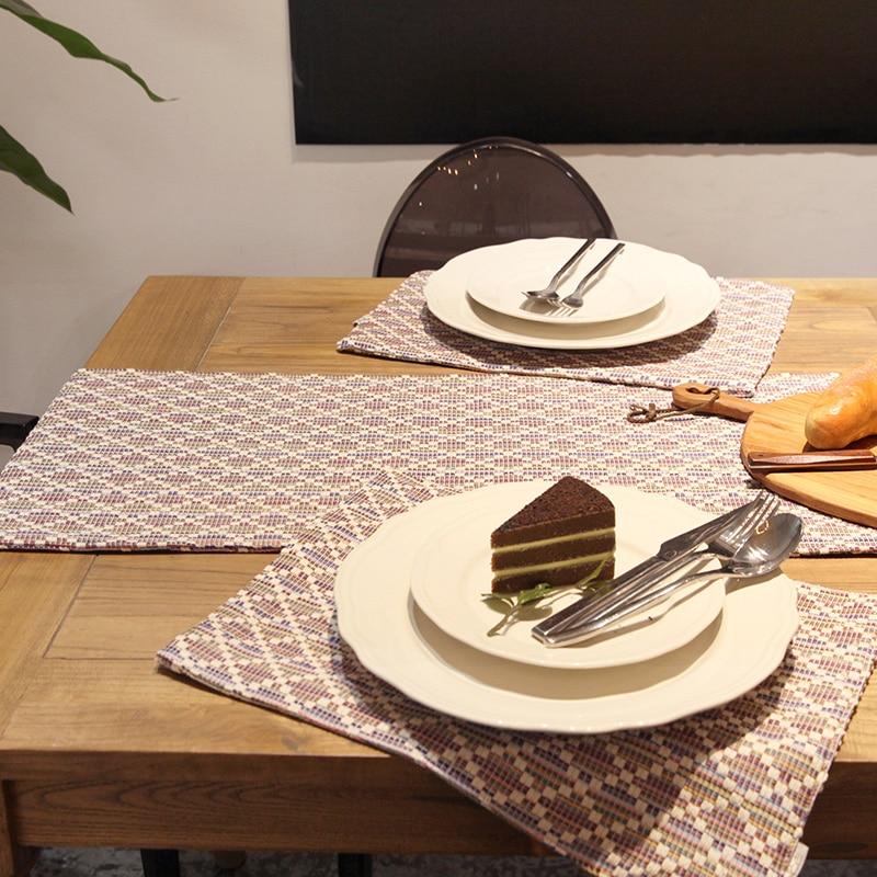 Misuri Table Runner Simple Style Geometric Rectangle TV ...