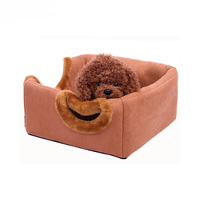 Pet Dog Seat Beds Mat Suede Flannelette Plush Round Pets Cat Puppy Kennel House 2 ways Used Luxury Bed House for PetsPDMAT14