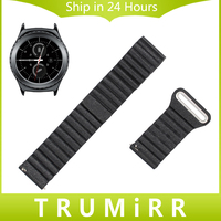 Genuine Leather Watch Band 20mm Quick Release Strap For Samsung Gear S2 Classic SM R732 SM