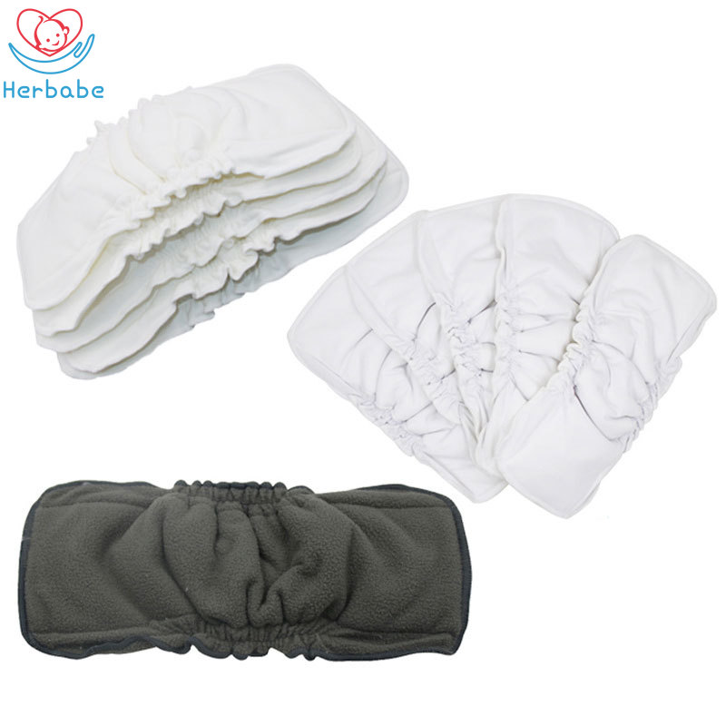 5PCS Reusable Baby Infant Newborn Cloth Diaper Bamboo Soft Nappy Liners Insert