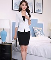 2016 Spring Summer Professional Business Work Suits Jackets And Skirt Formal Uniform Style Blazers Outfits OL Clothing Set
