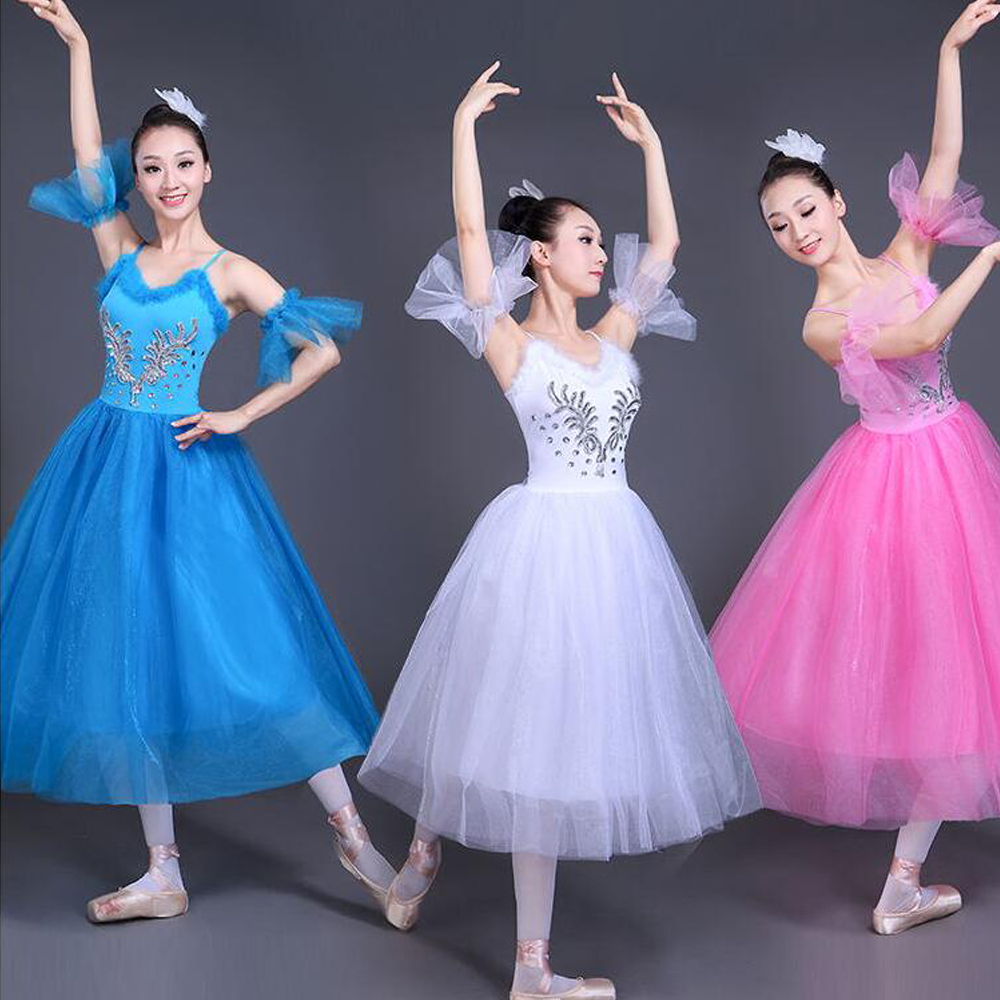 Adult white Swan Lake Ballet dancing dress Women Ballroom Ballet Romantic tutu Dance Outfits Stage wear Party dance dress