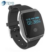 Teyo Новый Смарт-Группы E07S Bluetooth 4.0 Кровяное Давление Монитор Сердечного ритма Водонепроницаемый Браслет Генератора Интеллектуальный для Android IOS