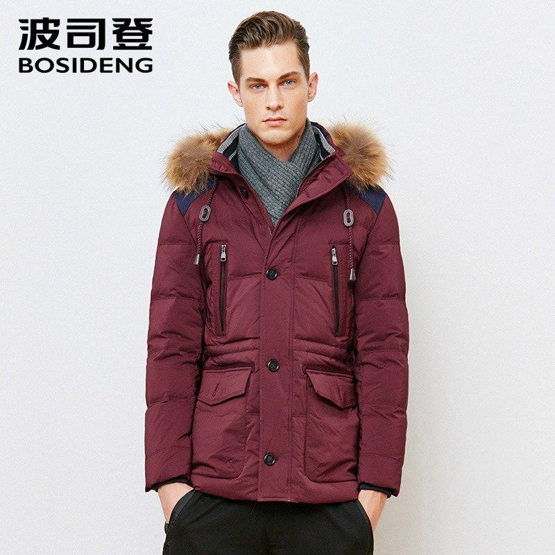 BOSIDENG duck down jacket men Winter jacket men high quality real fur collar down coat thickening warm mens outwear B1501141
