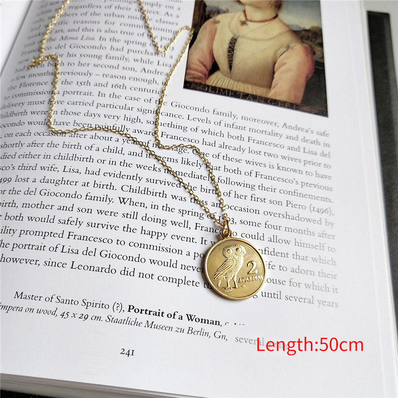 fd1521ac2 Aliexpress.com : Buy INZATT Real 925 Sterling Silver Disc Owl Coin Pendant  Necklace Fine Jewelry For Women Birthday Party Personality Accessories from  ...
