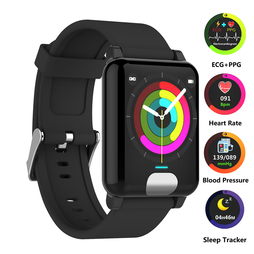 Smart Watch Heart Rate Monitor ECG PPG Fitness Bracelet Tracker Blood Pressure Watch Smart Wristband for