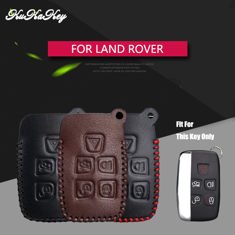 Genuine Leather Car Key Cover Case For Land rover A8 A9 X9 Discovery 3 4 Freelander 1 2 Evoque Defender 5 Button Smart Key Shell