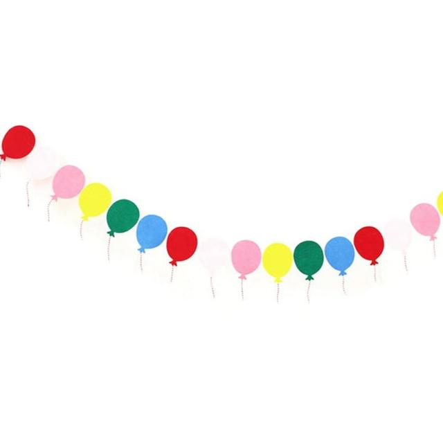 1pc happy birthday paper balloon flags baby shower