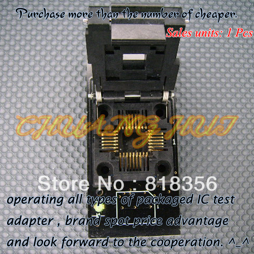 2000-FLASH-8BIT-PLCC32 Programmer Adapter PLCC32 IC Test Socket (Flip test seat) free shipping sop32 wide body test seat ots 32 1 27 16 soic32 burn block programming block adapter