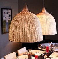 Handmade wicker suspension lamp dining room living room pendant light hotel hall restaurant hanging lighting