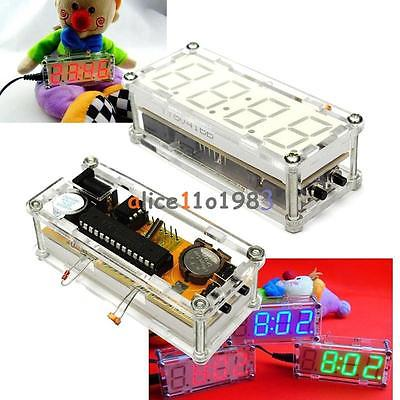 DIY Kit Red LED Electronic Clock Microcos