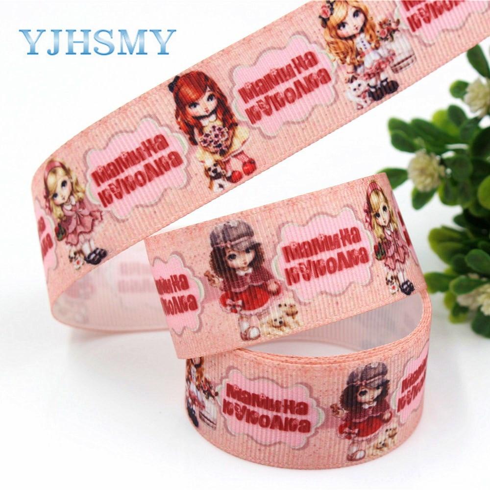 YJHSMY G-18616-498, 25 мм 10 ярдов мультфильм ленты Термальность передачи печатных grosgrain Свадебные аксессуары поделки ручной работы материал