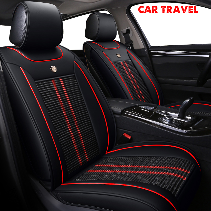 Car Travel Ice Silk Car Seat Cover For Ford All Model