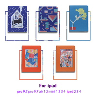 Cartoon Bracket Cases For Ipad 9.7 10.5 Air 1 2 Business Tablet Stands Cover With Automatic Sleep Wake Up Soft TPU Coque Funda