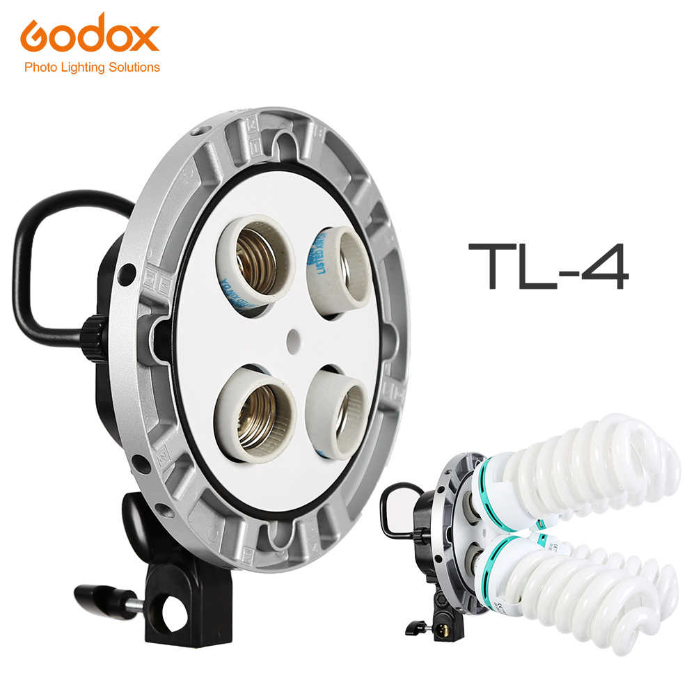 Godox Tl-5 Tricolor Ac Slave Bulb E27 Socket Holder Speed Ring with Five Hole for Photography Lighting