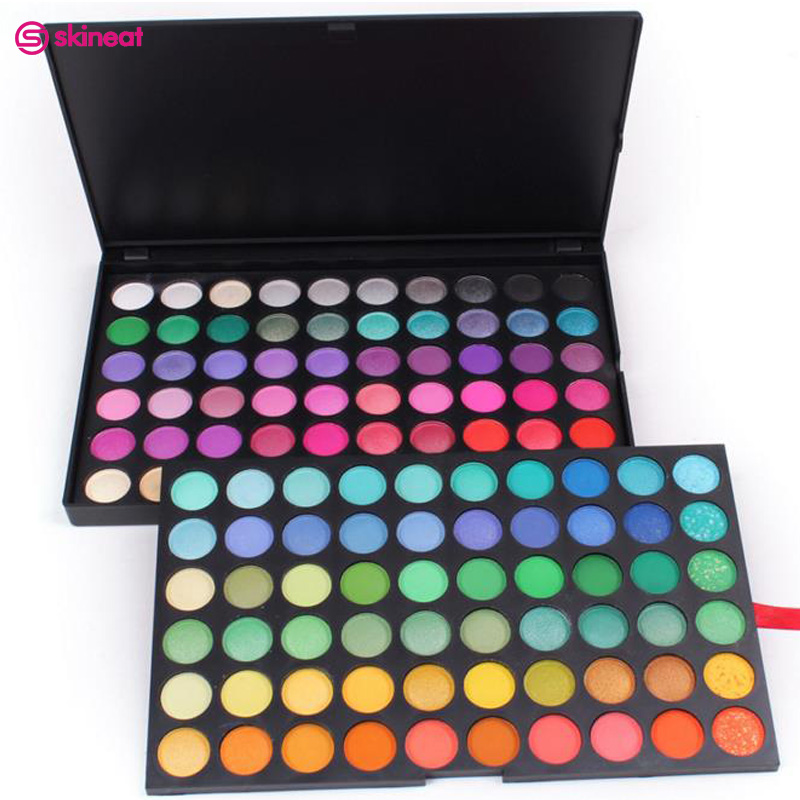 Skineat 120 Colors Professional Eye Shadow Long-lasting Waterproof Eye Cosmetic Eyeshadow Makeup Pallete Easy to Wear
