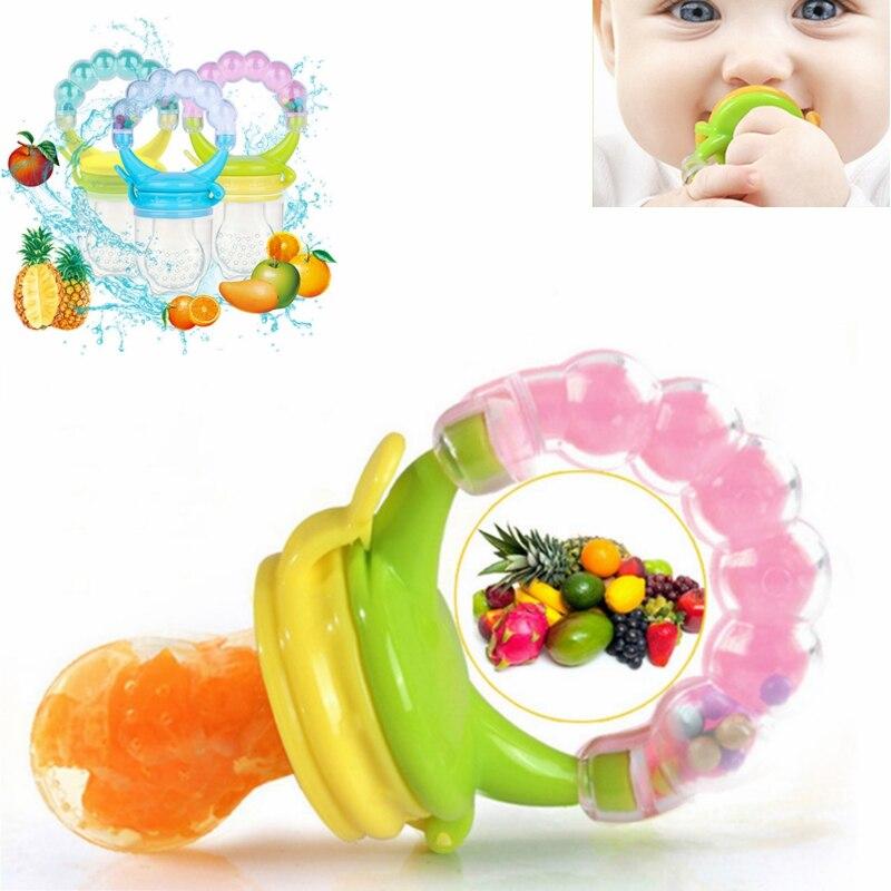 1Pcs Fresh Nipples Feeding Food Nibbler Baby Pacifiers Feeder Kids Fruit Feeder Safe Baby Supplies Nipple Teat Pacifier Bottles