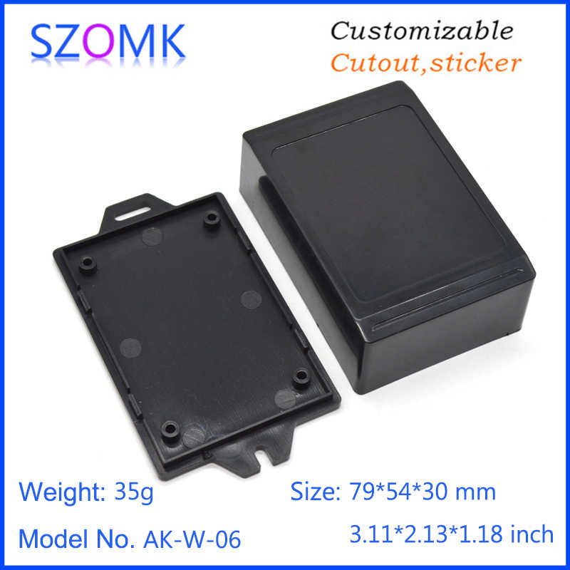 10 ピース 79*54*30 ミリメートル abs プラスチックエンクロージャボックス szomk 小さな電気機器筐体プラスチック pcb エンクロージャ装置ボックス