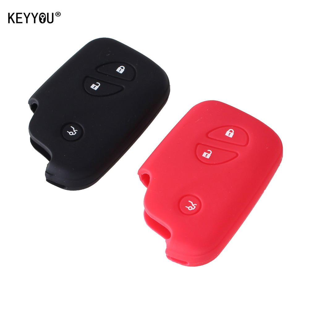 KEYYOU Silicone car key case Key Case cover For Lexus CT200h ES 300h IS250 GX400 RX270 RX450h RX350 LX570 Key Cover Key-in Key Case for Car from Automobiles & Motorcycles