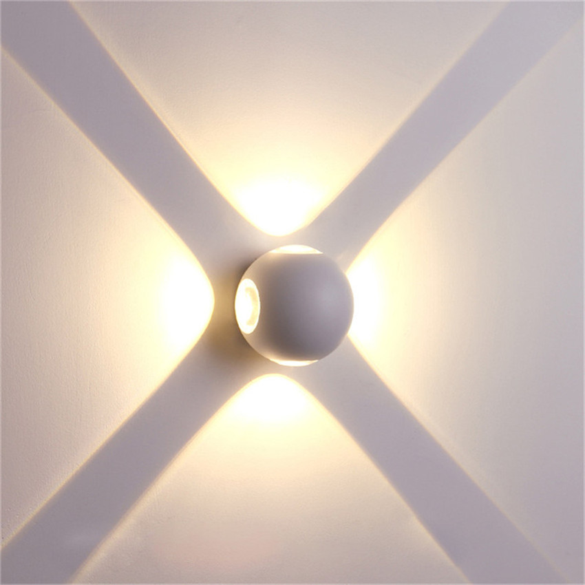 LED Wall Lamp IP65 Waterproof Indoor & Outdoor Aluminum Wall Light Surface Mounted Cube LED Garden Porch Light NR-155 5