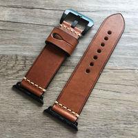 Pulseiras de Relógio macia 38 40 42 44mm para iWatch Para Apple Relógio de Couro Genuíno Banda Correias Belt Pulseira com Adaptadores homens e mulheres|bracelet watchbands|watchband for apple watch|apple watch watchband -