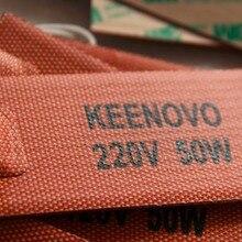 """"""" X 4"""", 50 Вт, 220 В, Keenovo Универсальный гибкий силиконовый нагревательный коврик/элемент"""