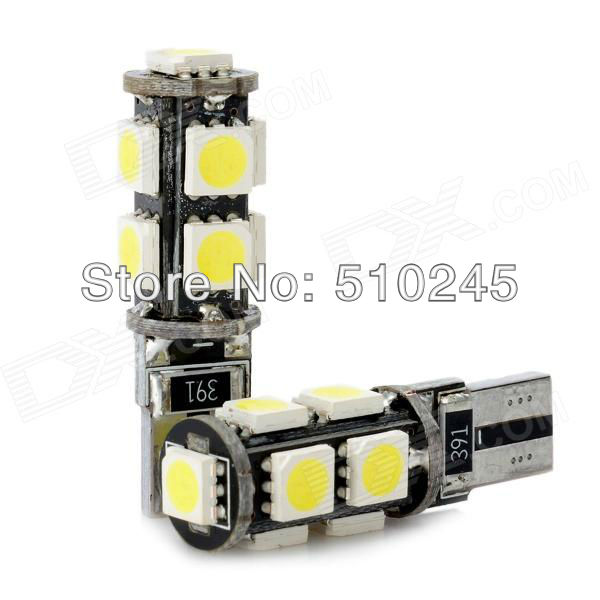 100X T10 Canbus W5W 194 5050 SMD 9 LED Error Free White Light Bulbs DC 12V auto lamp car styling
