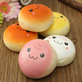 Universal Qute Lovely Phone Decoration 4cm Marshmallow Bun Phone Charm Squishy Pendants Baby Toys Smile Bread Phone Straps