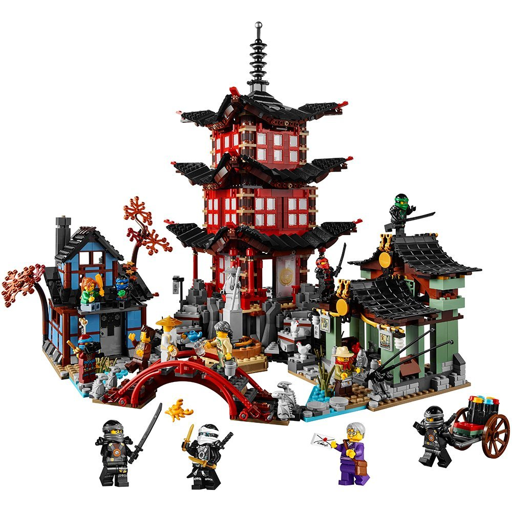 Lepin 06022 blocks Ninja Figure Temple of Airjitzu font b toys b font for children building