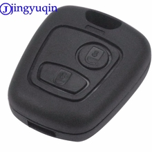 jingyuqin 2 Buttons Remote Key Car Blade Fob Case Shell Cover Case For Peugeot 107 207 307 407 206 306 406 For Citroen C1 C4